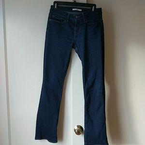 Levi's 715 mid rise boot cut jeans